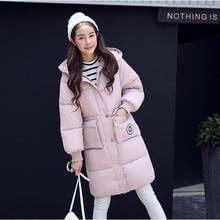 Зимняя куртка женщины Горячие 2016 мода хлопок вниз пальто Сгущать парки Женский свободные Ватную куртку Плюс размер теплый верхняя одежда пальто