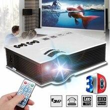 LEORY 7000 Lumens Smart Portable Mini LED 3D TV Projector Video Home Theater Bea