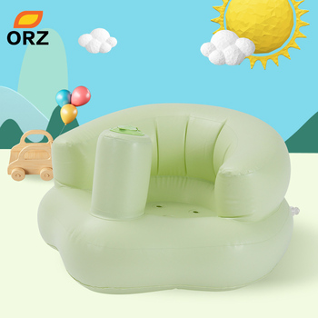 ORZ Inflatable Baby Kids Chair Children's Furniture PVC Bath Sofa Baby Learn Stool Training Seat Portable Kids Dining Chair