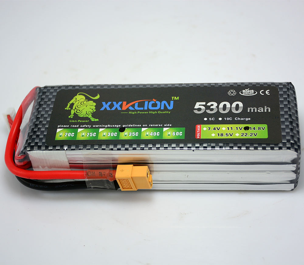 XXKLION 14.8v 4S 5300mah 35c T Plug/XT60 PlugLipo Battery RC Helicopter RC Car RC Boat Quadcopter Remote Control toys Battery