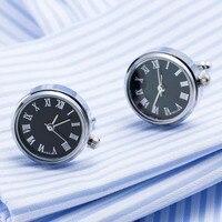 VAGULA Relógio de Luxo Relógio abotoaduras Abotoaduras Qualidade Real Com Bateria Engrenagem Núcleo Da Máquina Mecânica Tourbillon Gemelos Presente