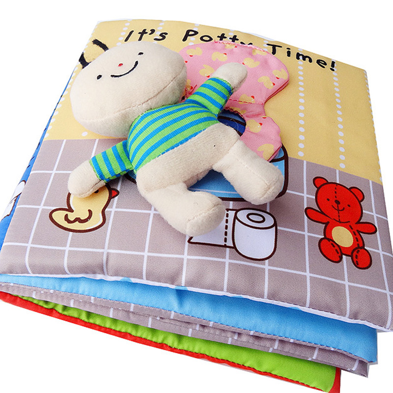 Baby Book Soft Cloth Books Toddler Newborn Early Learning Develop Cognize Reading English Book Toys Kids Active Quiet Book 4L