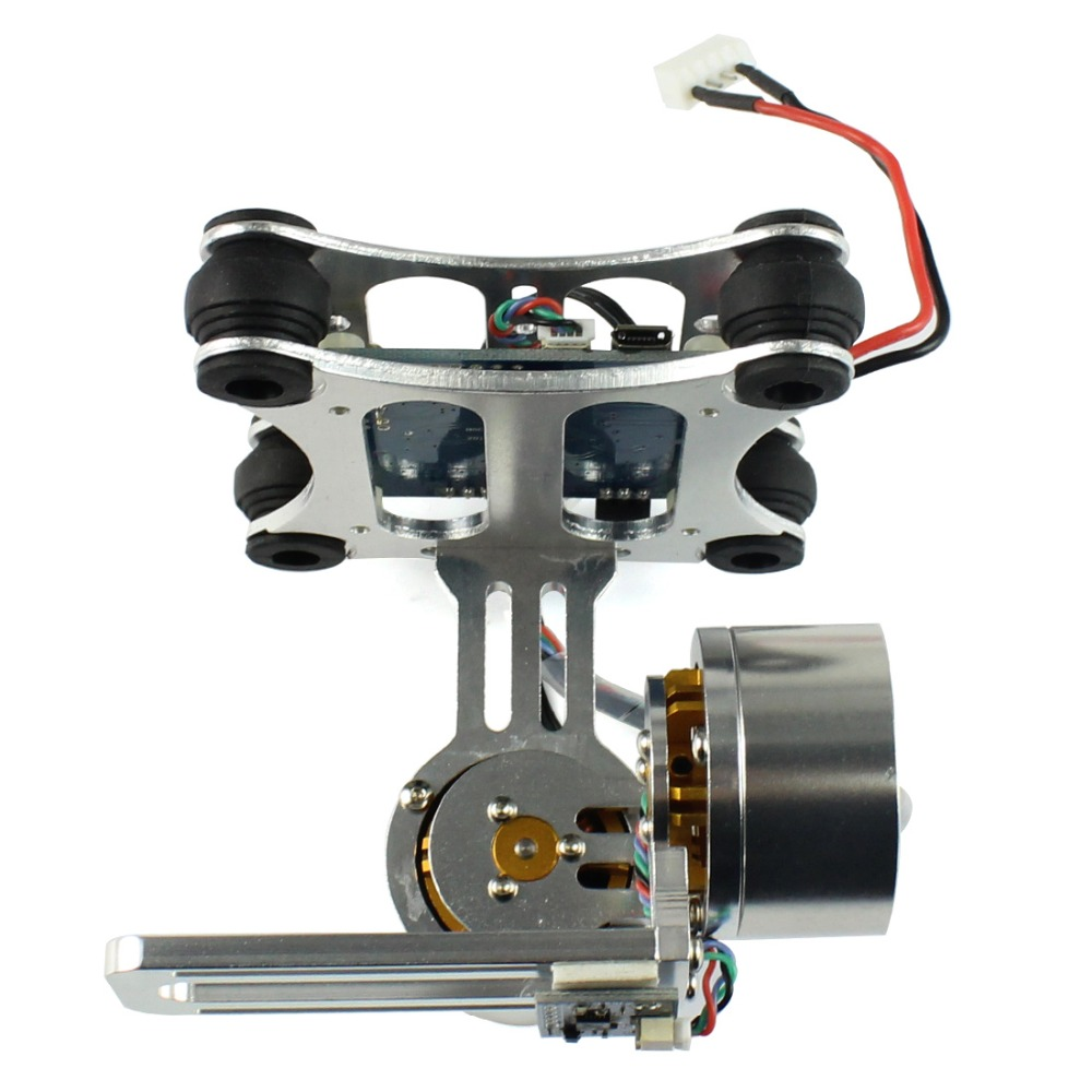 F06885 Aluminum 2-Axle Brushless Gimbal Camera Mount Controller Plug&Play for DIY Quadcopter Trex 500 550 Aircraft No Manual 2015 hot sale quadcopter 3 axis gimbal brushless ptz dys w 4108 motor evvgc controller for nex ildc camera
