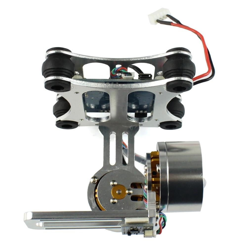 F06885 Aluminum 2 Axle Brushless Gimbal Camera Mount Controller PlugampPlay For DIY Quadcopter