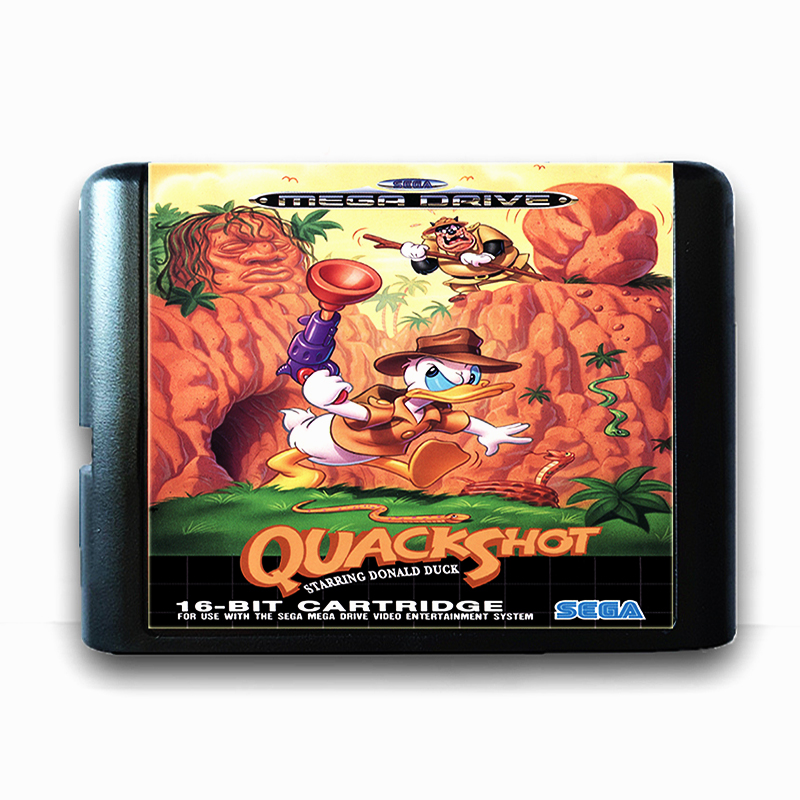 Quack Shot 16 bit Sega MD Game Card for Mega Drive for Genesis