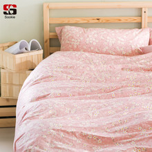 sookie 100 cotton bedding sets pink floral twin king size