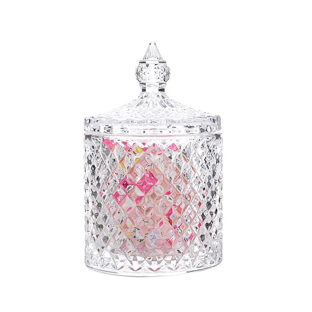 Quail Food-Jar Makeup-Brush-Bucket Jewelry-Box Diamond Wedding-Candy With Crystal-Lid
