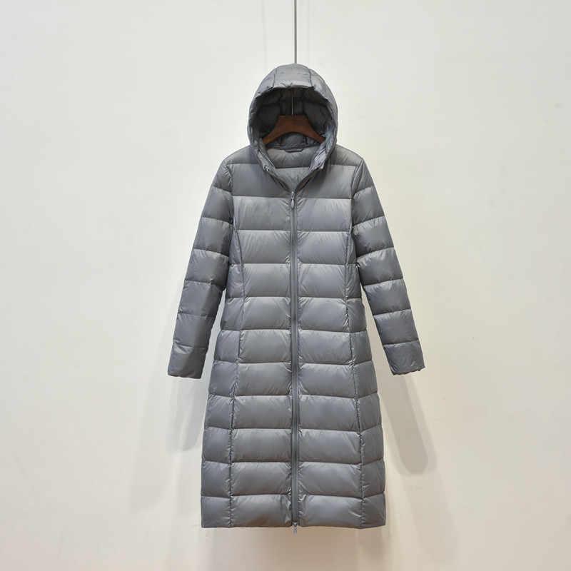 Новинка бренд женский длинный пуховик женский легкий пуховик для женщин пуховая куртка зимняя ветровка теплая парка