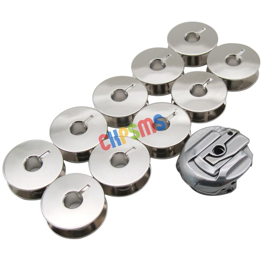 1PCS BOBBIN CASE &10 PCS BOBBINS fit for Bernina 117, 217,317,517, 540,542,544,640,740,750, 850, 950Sewing Tools & Accessory   -