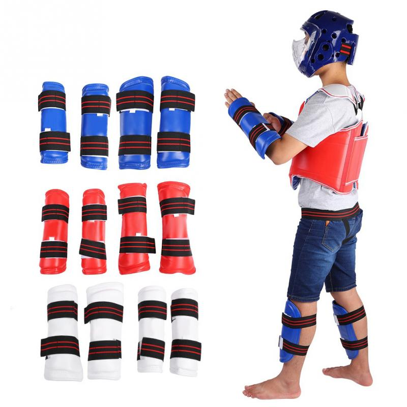 Unisex Taekwondo Groin Guard Arm Support Band Boxing Karate Crotch Protector Supports Set wtf taekwondo sparring gear protectors guards complete one set helmet chest arm shin groin guard jockstrap protector