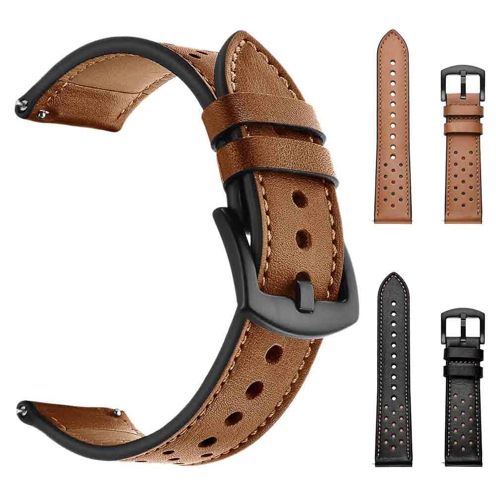 22mm reemplazo reloj de cuero correa de muñeca para Samsung Galaxy reloj 46mm banda de reloj de goma correa de reloj de cuero OTAN Correa