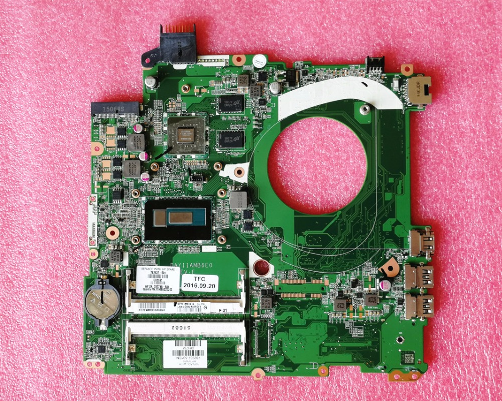 782937 501 Free Shipping Laptop Motherboard For HP pavilion 15 15 P 782937 001 i5 5200U DAY11AMB6E0 mainboard 840M/2GB Test ok-in Motherboards from Computer & Office    1
