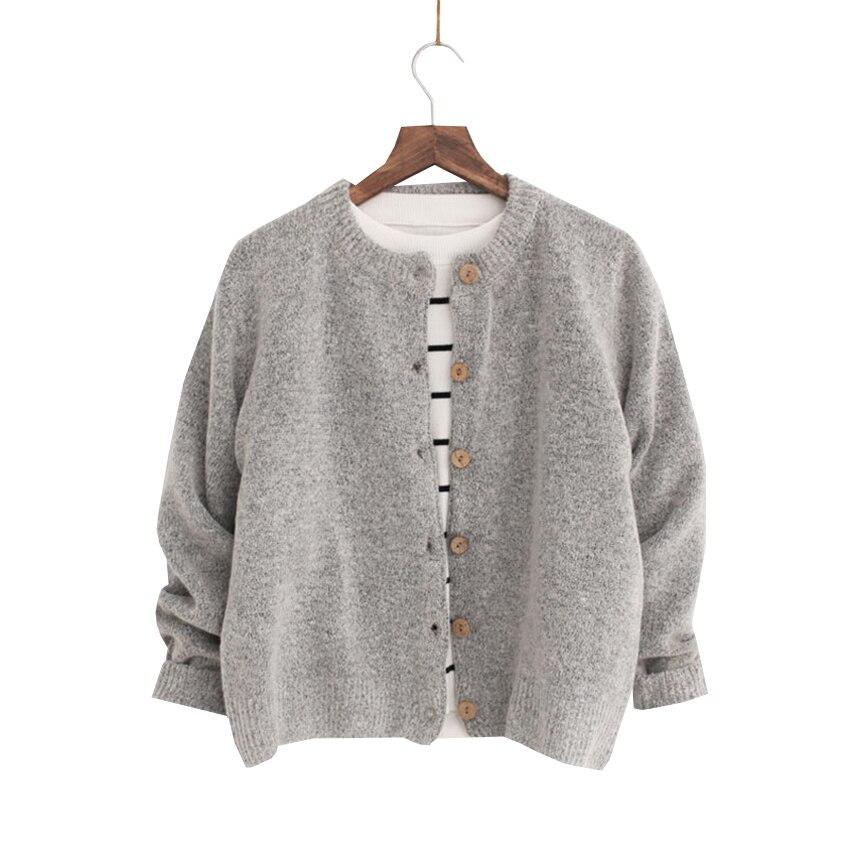 Fashion Women Cardigans New Spring Autumn Casual Style Short Knitted Jacket Basic Coat Sweaters Female Elegant Cardigan SF446
