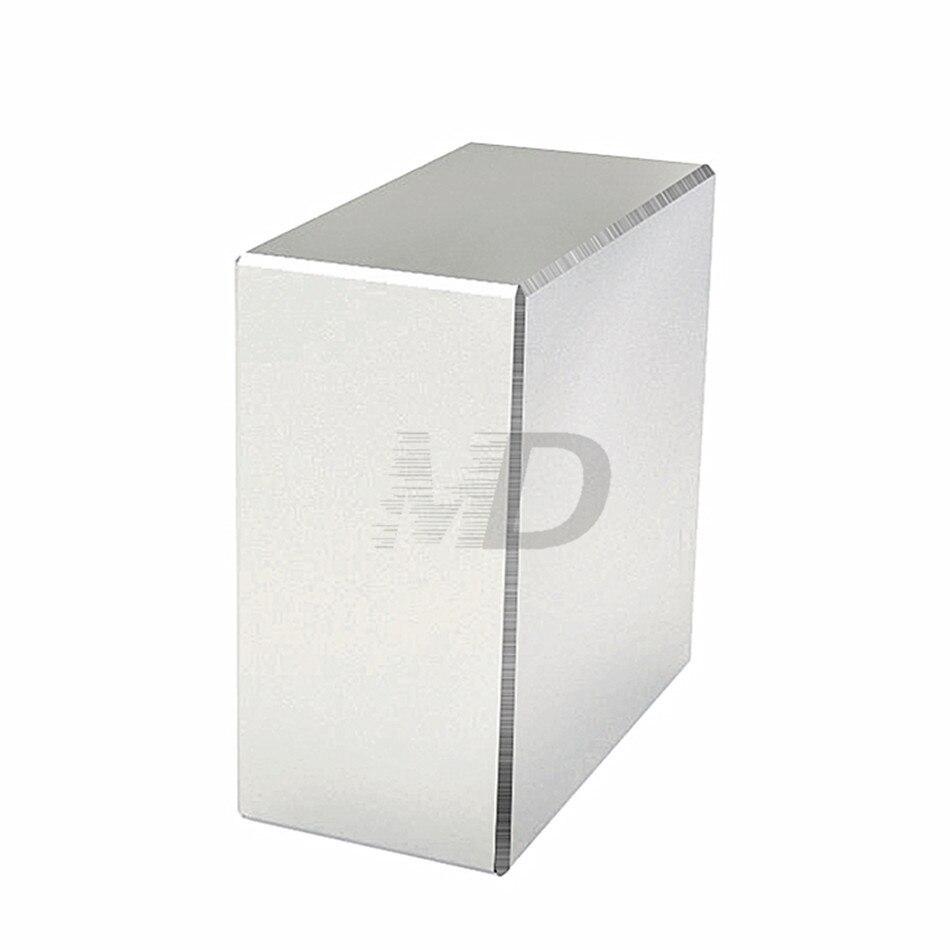 1 unids bloque 40x40x20mm super fuerte N52 alta calidad imanes de tierra rara imán de neodimio