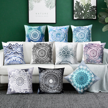 Mandala Cushion Cover Polyester Geometric Pillowcase Square Throw Pillow Pomi style pillow covers decorative Car