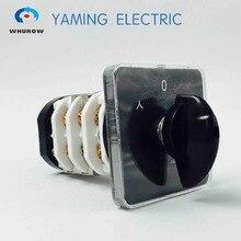 Przełącznik zmiany YMZ12 32/4 selector startowy gwiazda/trójkąt elektryczna obrotowa kamera przełącznik 32A 4 polak 3 miejsce sliver kontakty