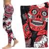 Skull Yoga Pants Women Elastic Slim Workout Leggings 4
