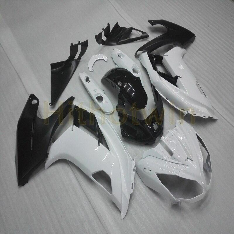Vis + capot de moto ABS blanc noir personnalisé pour carénage Kawasaki 650R ER6f 2009 2010 2011 ER6F