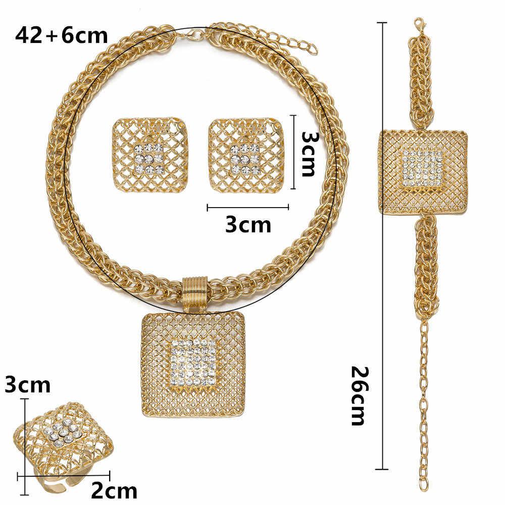 BAUS jakości moda turecki biżuteria afryki biżuteria ustaw zestawy biżuterii Dubai złoty kolor afryki kobiety Big naszyjnik zestaw hurtowych