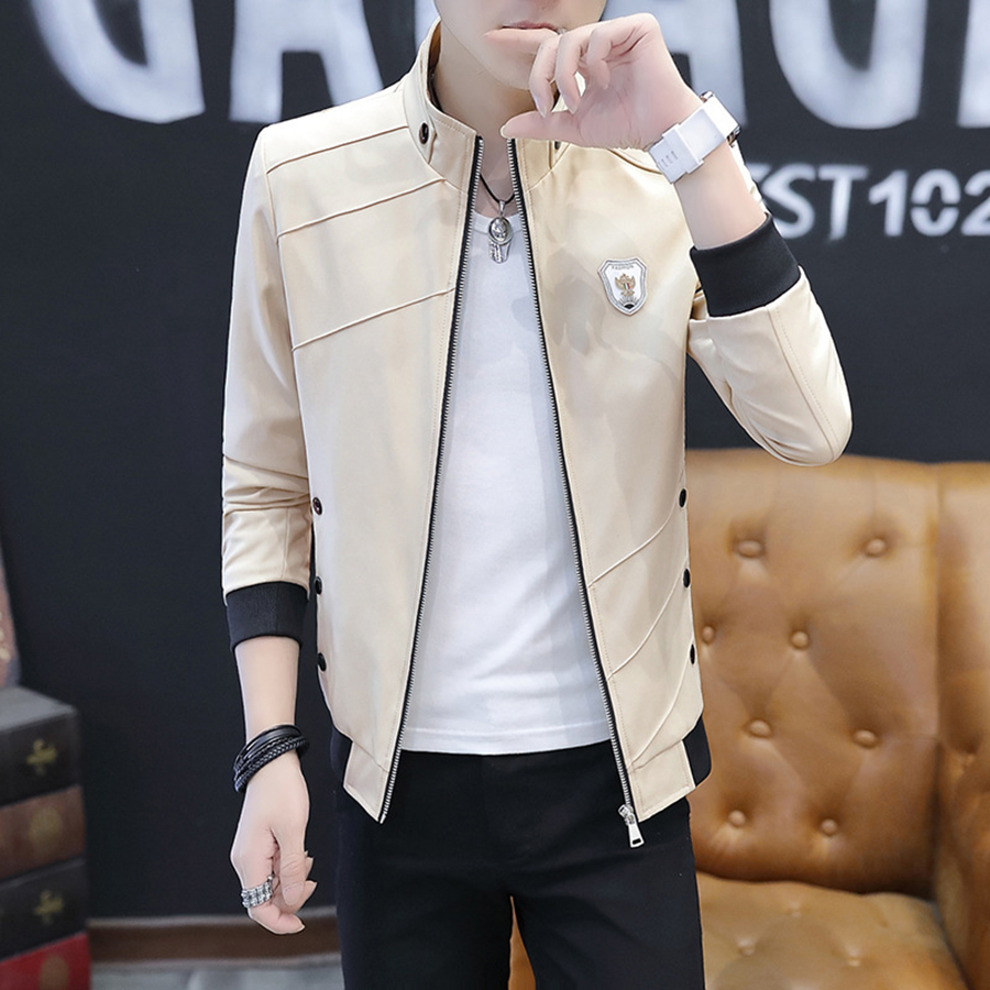 Collar Spring Short Jacket Men Korean Slim Fit Style Leisure Jacket Man Fashion 2019 Veste En Jean Homme Coat Business Men 50JK3(China)