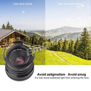 Image 5 - 7 الحرفيين 25 مللي متر F1.8 رئيس عدسة ل سوني E جبل ل فوجي فيلم و مايكرو 4/3 كاميرات A7 A7II A7R G1 G2 G3 X A1 X A10 مع عدسة هود