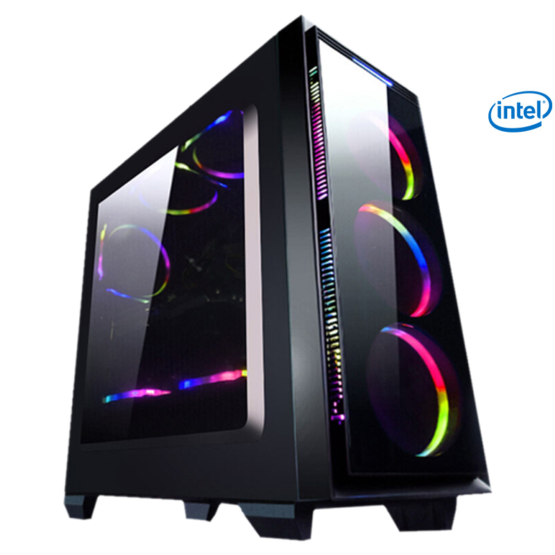 S41 Intel I3 8100 Computer PC Quad Core 1TB HDD 4GB RAM Desktop 6 Free Fans Integrated Graphics Card 110V-240V 400W Home Ofiice