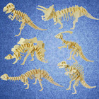 Wooden 3D Puzzle Funny 3D Simulation Dinosaur Skeleton Puzzle DIY early education animal model creative Assembly Toy