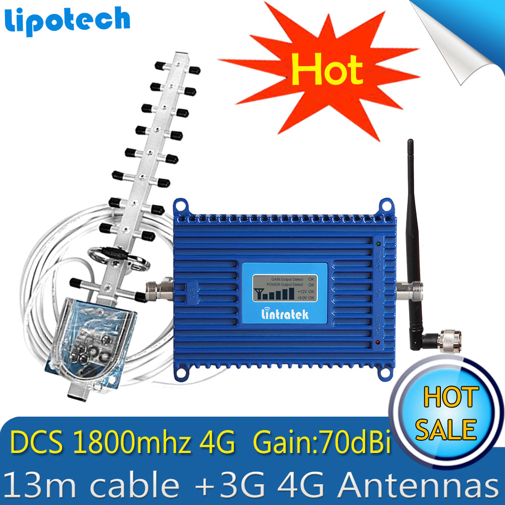 Lintratek LCD Display GSM 1800 4G FDD LTE 1800 Cellular Repeater Mobile Signal Booster 1800mhz ALC Function Amplifier 4G AntennaLintratek LCD Display GSM 1800 4G FDD LTE 1800 Cellular Repeater Mobile Signal Booster 1800mhz ALC Function Amplifier 4G Antenna