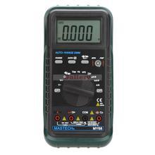 Mastech My68 жк-ручной автоматический диапазон цифровой мультиметр Dmm W емкость частота и Hfe тест тестеры цифровой мультиметр