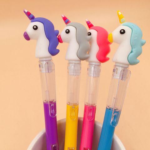 30 pcs lote unicornio lado imprensa caneta automatica lapiseira lapis aluno para o miudo escola