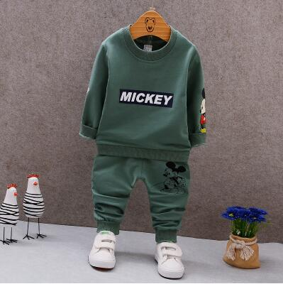 цены Kids Clothing Sets Long Sleeve T-Shirt + Pants, Autumn Spring Children's Sports Suit Boys Clothes Girls Fashion Cartoon suit