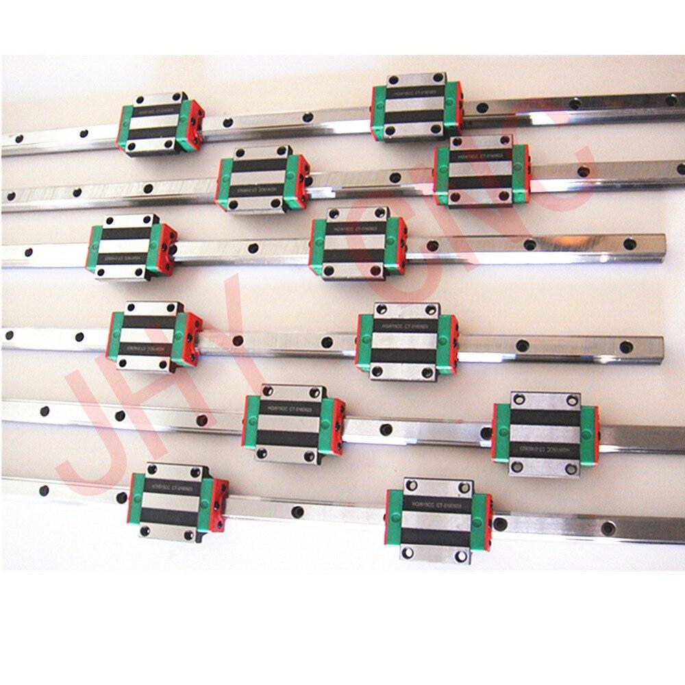 Направляющий рельсовый профиль подшипник подушки линейный привод Запчасти HG15 300/800/1100 мм контроль качества