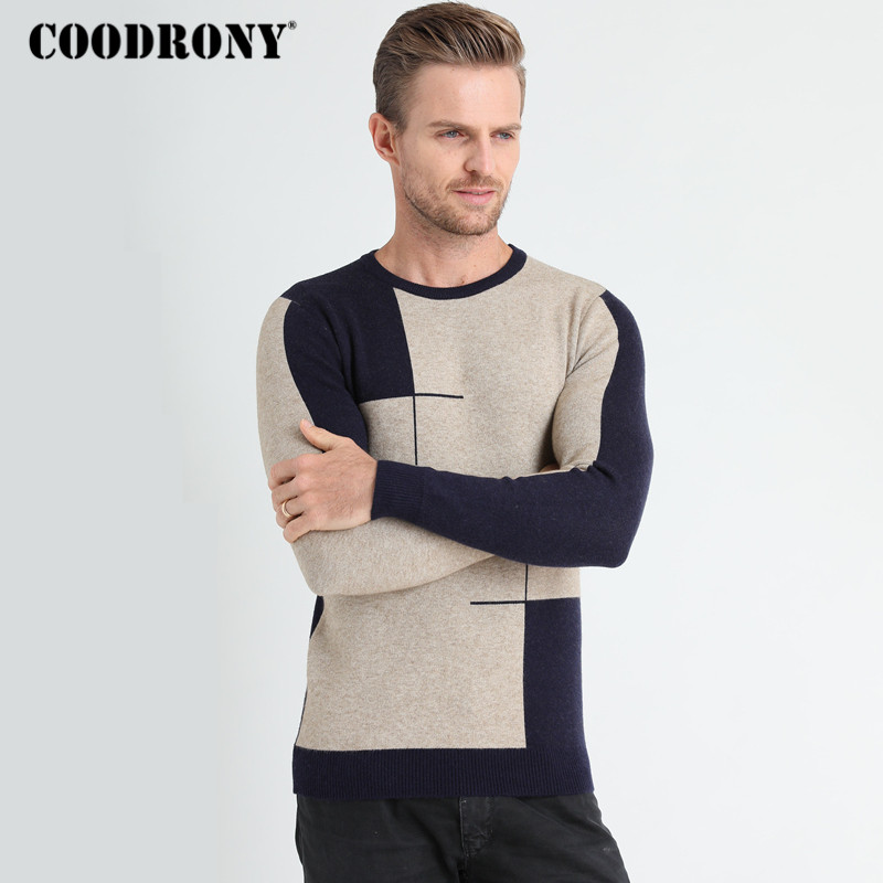 COODRONY Cashmere Wool Sweater Men Brand Clothes 2018 New Winter Thick Warm Mens Pullover Sweaters Casual O-Neck Pull Homme 8137