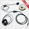 2PTT 3.5mm K1 Plug Half Face Helmet Headset microphone MIC-HF05-35L for Yaesu Triple band Handheld radio VX7R VX-7R