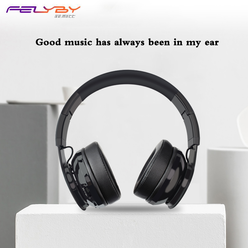 FELYBY wireless Noise Cancelling Bluetooth headset 4.1 gaming headphones with microphone outdoor sports music earphone for phone noise cancelling bluetooth 4 2 wireless sports headset with tf slot for phone