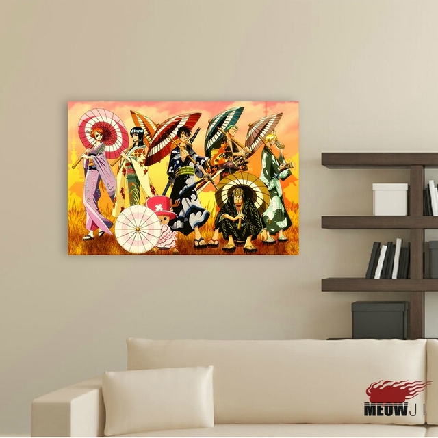 One Piece Posters Wall Art Printed Canvas Painting Room Decoration Anime Decor Picture Gift