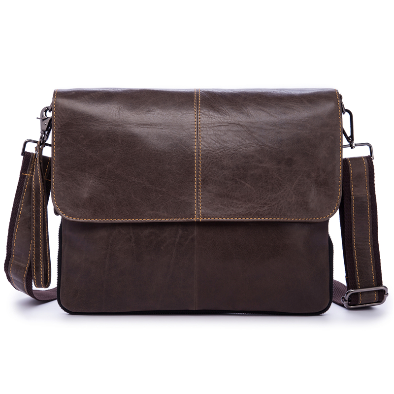 Genuine Leather Men Bag Fashion Leather Crossbody Bag Shoulder Men Messenger Bags Small Casual Designer Handbags Man Bags B579 neweekend genuine leather bag men bags shoulder crossbody bags messenger small flap casual handbags male leather bag new 5867