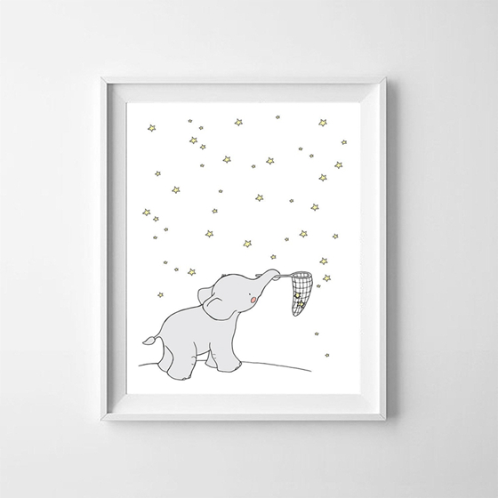 Cartoon-Elephant-Canvas-Painting-Wall-Picture-Art-Prints-Cute-Animals-Elephant-Koala-Print-Poster-Baby-Room (4)