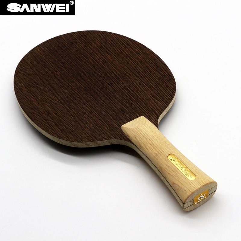 Sanwei DYNAMO (2017 nouveau) lame de Tennis de Table (bois 5 plis, manche cyprès, léger et rapide) raquette de Ping-Pong