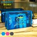 M Quadrado saco de Viagem Cosméticos Saco Esteticista Transparente Para Make Up Organizer Wash Higiene Bag Doce Cor Mulheres Maquiagem saco de Embreagem Mão