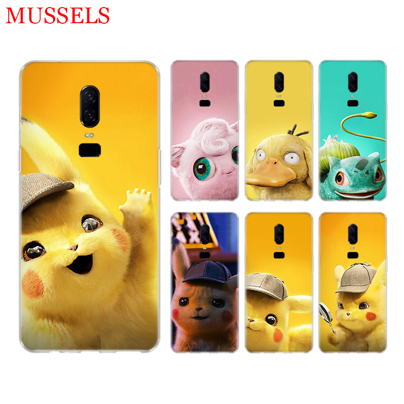 Pikachue Movie Durable Phone Back Case for font b OnePlus b font font b 7 b