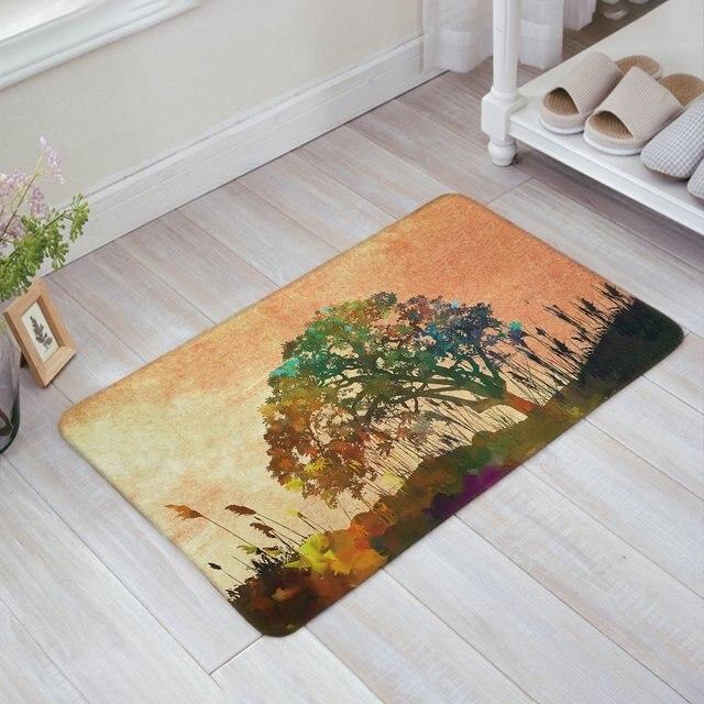 Soft Absorbent Floor Bath Mat Welcome Doormat Large Small Inside Outside  Front Door Mat Carpet Floor