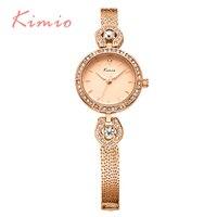 2017 New Kimio Famous Brand Luxury Fashion Watch Women Crystal Diamond Quartz Bracelet Wristwatches Women Watches