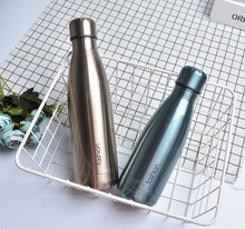 The new drawing coke bottle creative thermoses leisure female male student flaskdouble layer stainless steel vacuum water bottle