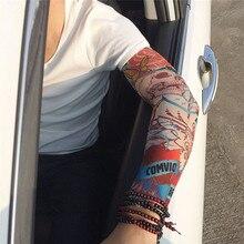 1 шт., спортивные тату-рукава, крутые рукава для рук, для езды на велосипеде, бега, для рук, теплые спортивные эластичные нарукавники, гетры INS 233