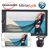 7inch Car MP5 Radio Player Touch Screen Bluetooth FM TF USB AUX IN Mirror Link Screen 10 Languages Mirror For Android Phone