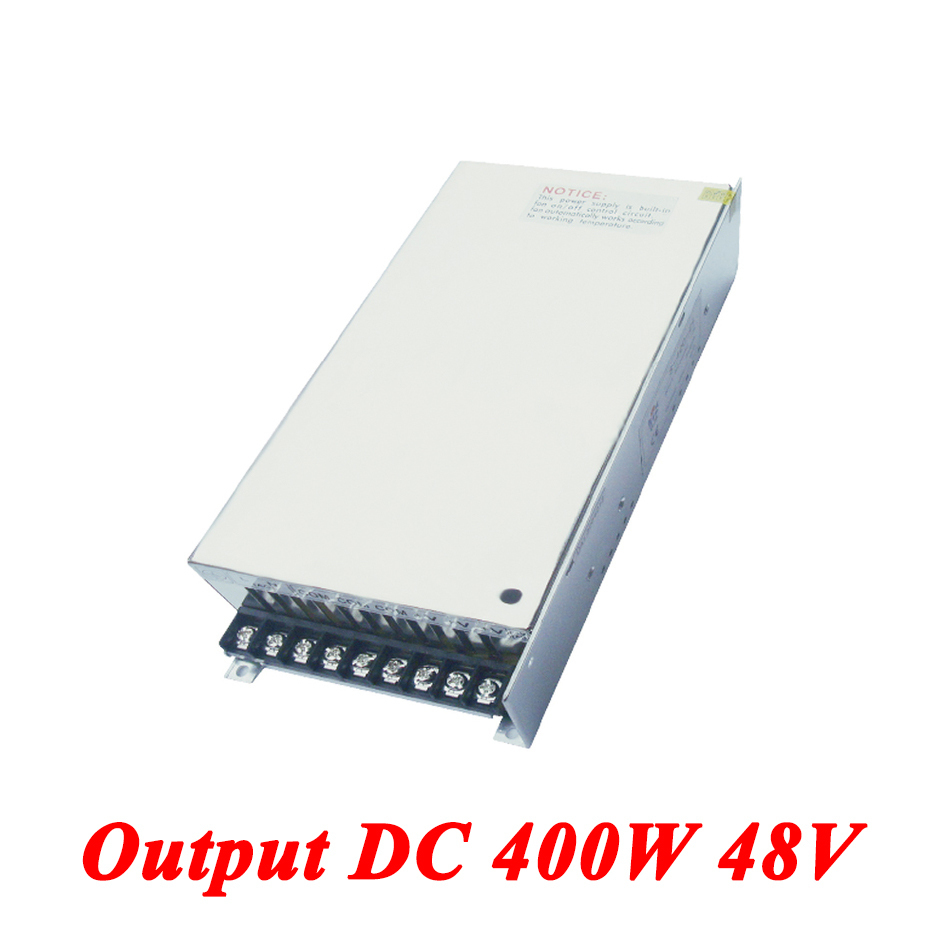 S-400-48 Switching Power Supply 400W 48v 8.3A,Single Output AC-DC Converter For Led Strip,AC110V/220V Transformer To DC Driver s 100 12 100w 12v 8 5a single output ac dc switching power supply for led strip ac110v 220v transformer to dc led driver smps