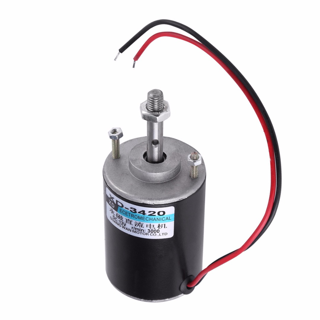 1pc New 30W Mini Micro DC Speed Motor 12/24V Permanent Magnet Electric DC Motor CW/CCW For DIY Generator