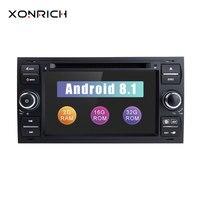 2 din Android 8,1 автомобильный dvd плеер мультимедиа для Ford Fiesta Ford Focus 2 Mondeo 4 C Max S Max FusionTransit радио gps навигация