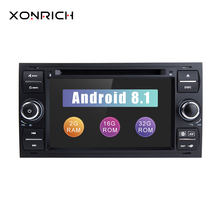 2 din Android 8,1 автомобильный dvd-плеер мультимедиа для Ford Fiesta Ford Focus 2 Mondeo 4 C-Max S-Max FusionTransit радио gps навигация(China)